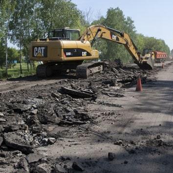 Демонтаж дорог