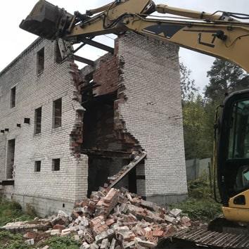 Демонтаж элементов здания