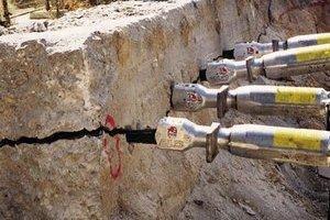 Демонтаж бетона бетоноломом