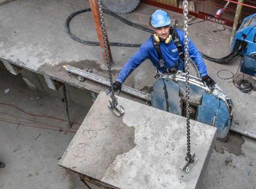 Демонтаж бетонных плит