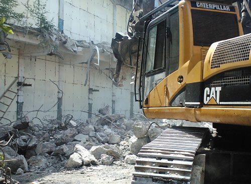 Демонтаж бетонных стен