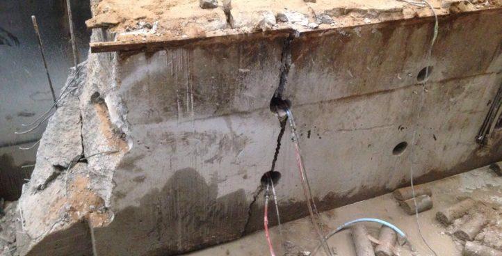 Демонтаж бетонных блоков