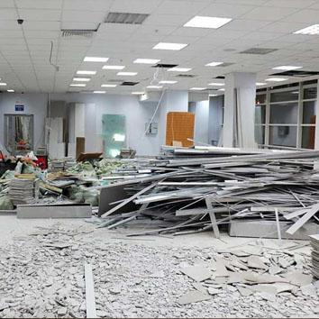 Демонтаж в офисе